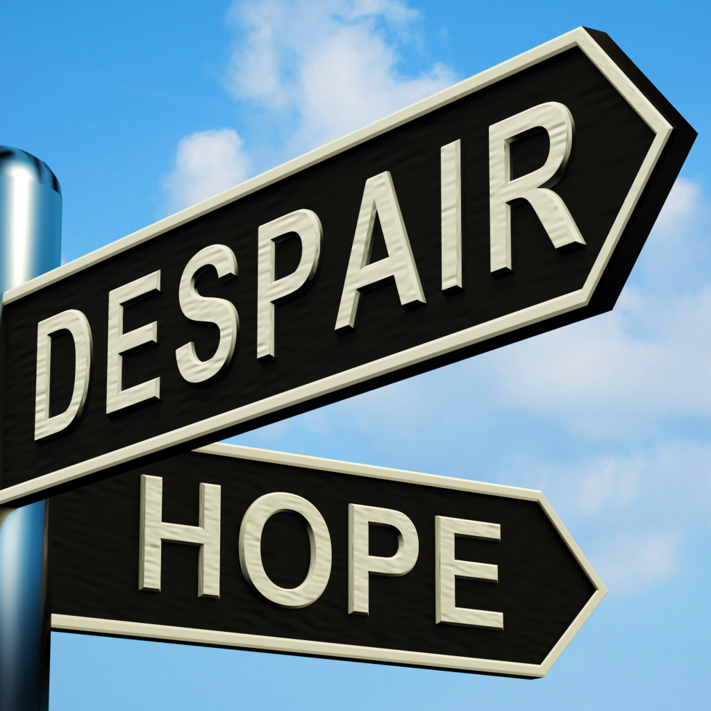 Caregivers help at the crossroads - choosing despair or hope when confronted with vision loss