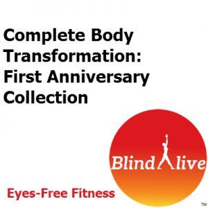 Complete body transformation audio-described fitness routine bundle