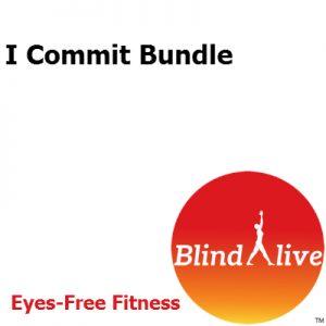 I Commit audio-described fitness routines bundle