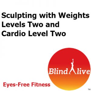 Sculpting with Weights and Cardio Level 2 audio-described fitness routines